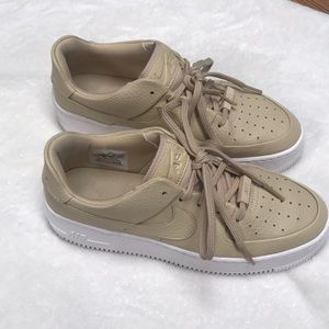 Nike Air Force One Sage Low - Beige Color
